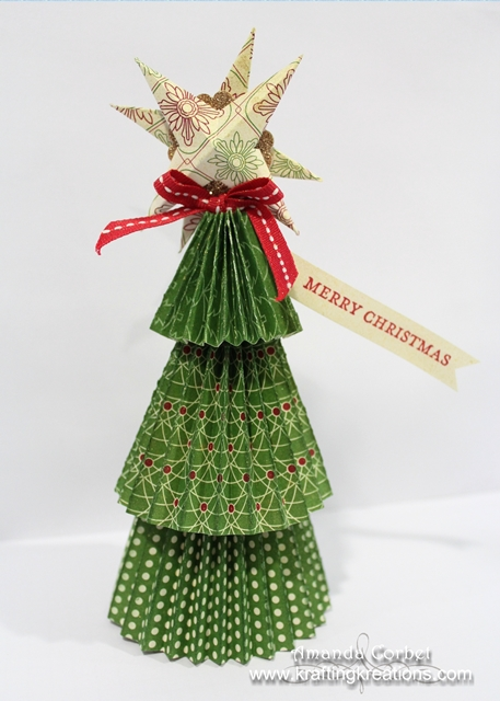 3D Christmas Tree Place Card