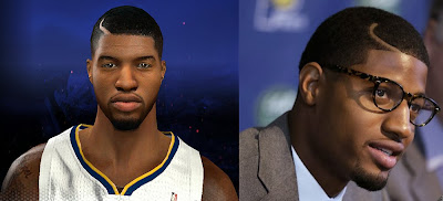 NBA 2K14 Paul George Cyberface New Hair Update