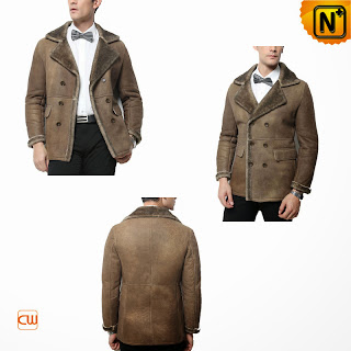 mens tailored sheepskin coat