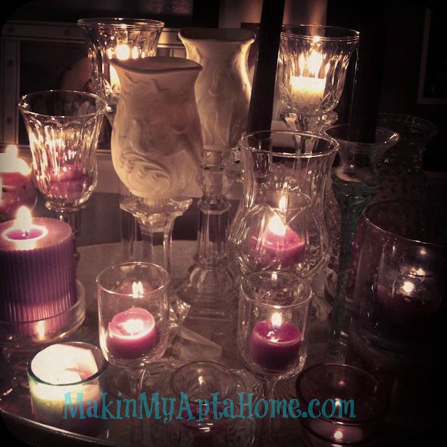 crystal fireplace MakinMyAptaHome