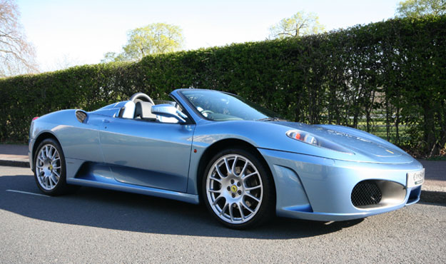 Dream Car Ferrari F430 Spider Blue