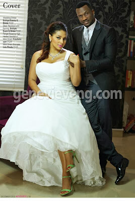 Genevieve Magazine wedding edition+loladeville+Lola and Peter Okoye