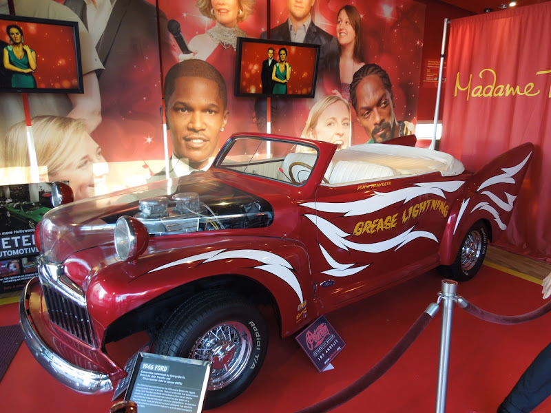 Grease Lightning movie car Madame Tussauds
