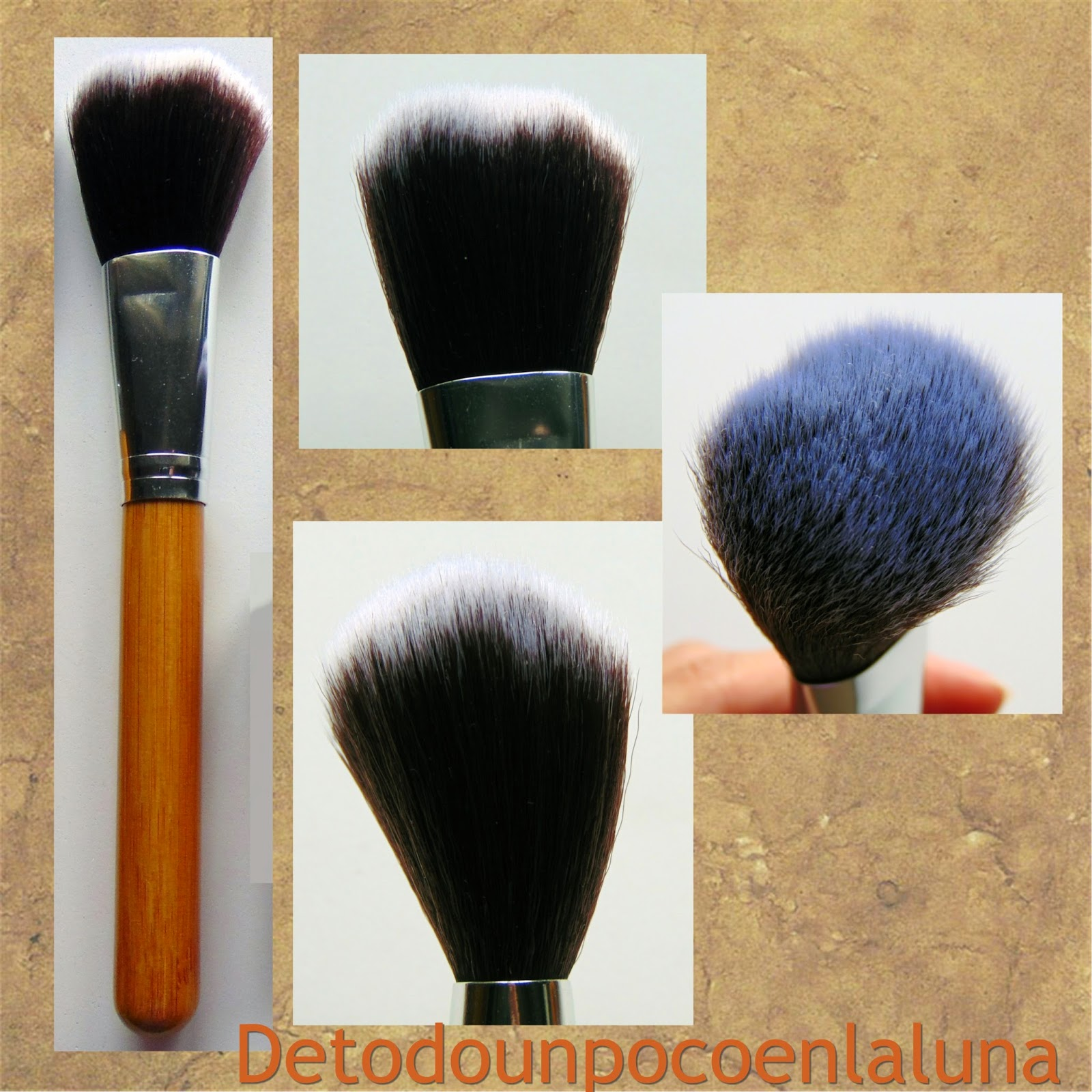 Set 11 brochas de maquillaje de bambú de Buyincoins polvos
