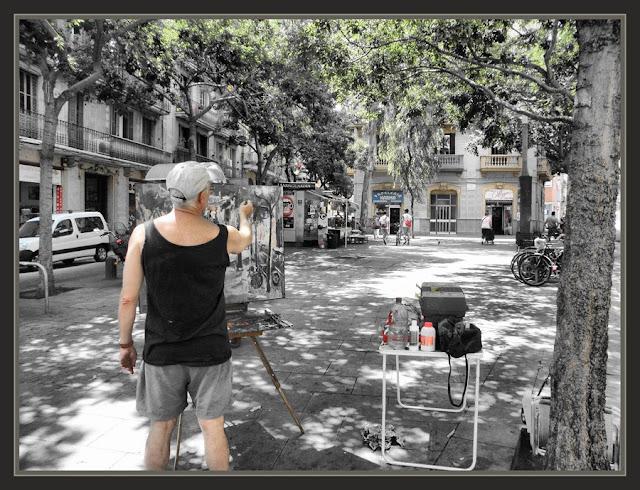 POBLE SEC-PINTURA-BARCELONA-CATALUNYA-FOTOS-PINTORS-ERNEST DESCALS-