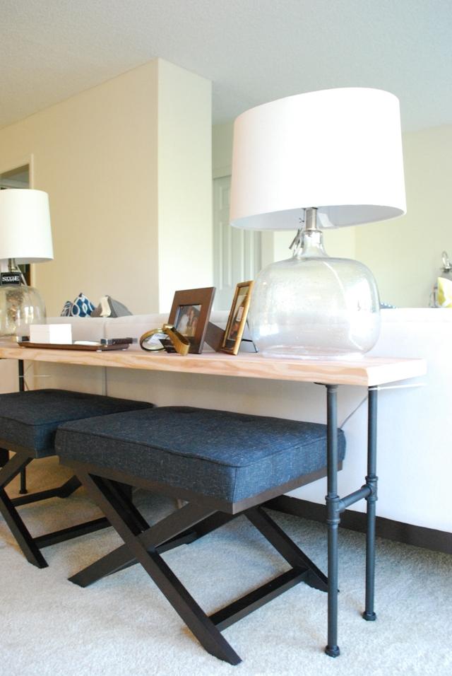 Table bar pour cuisine industrielle diy accrodeco - Table cuisine industrielle ...