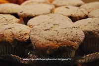 Muffin, muffin con uvetta e pinoli