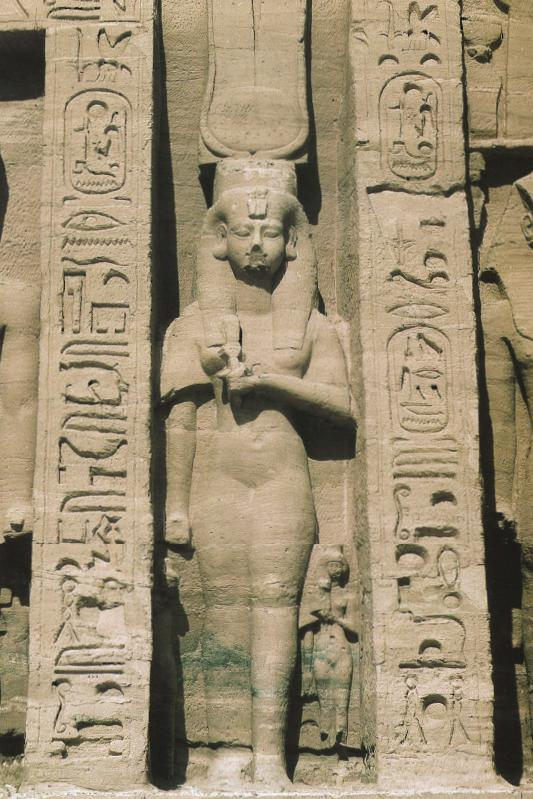 Nefertari at the Lesser Temple of Abu Simbel. Ancient Egypt History