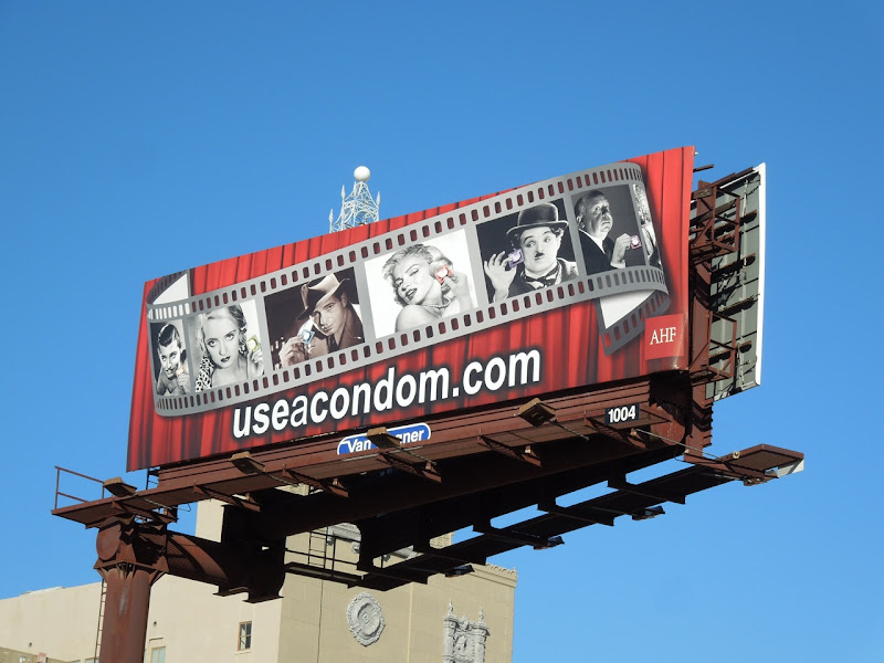 Hollywood icons condom billboard