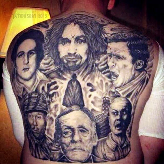 Tattoosday a tattoo blog february 2015 for Charles manson tattoos