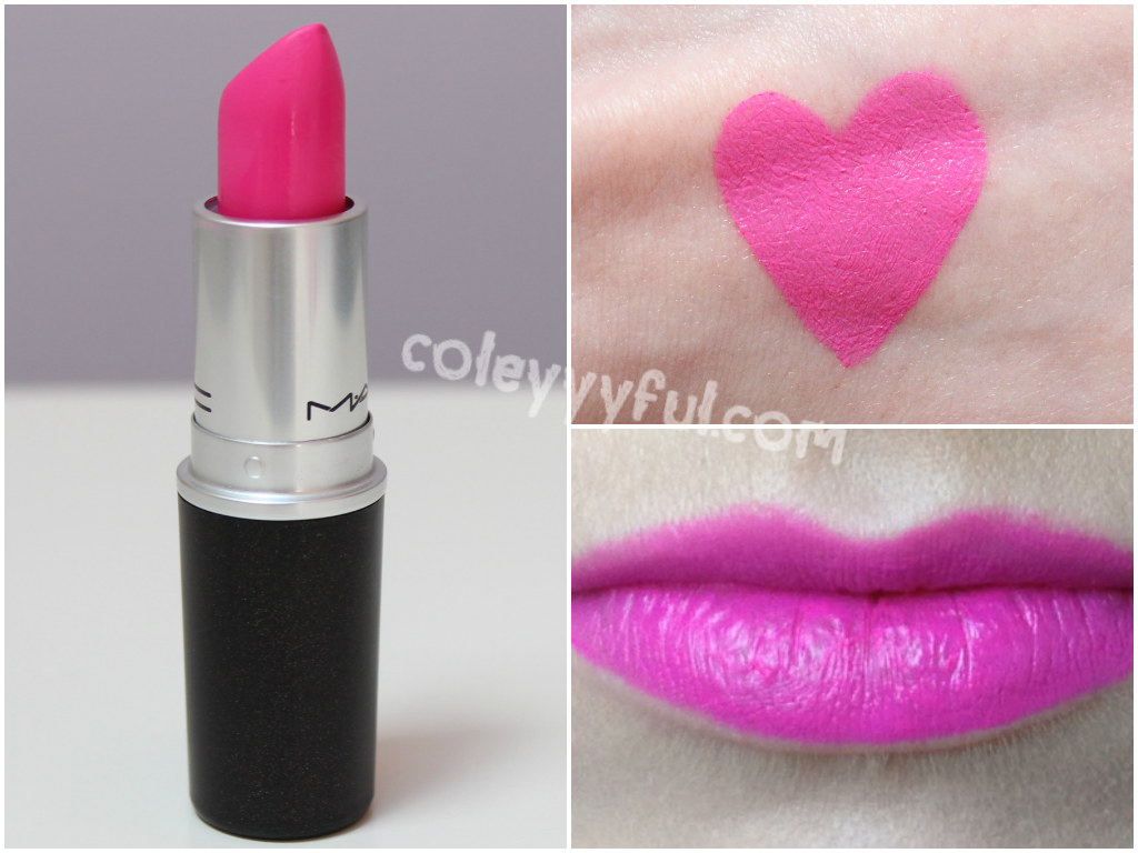 Dark pink lipstick mac