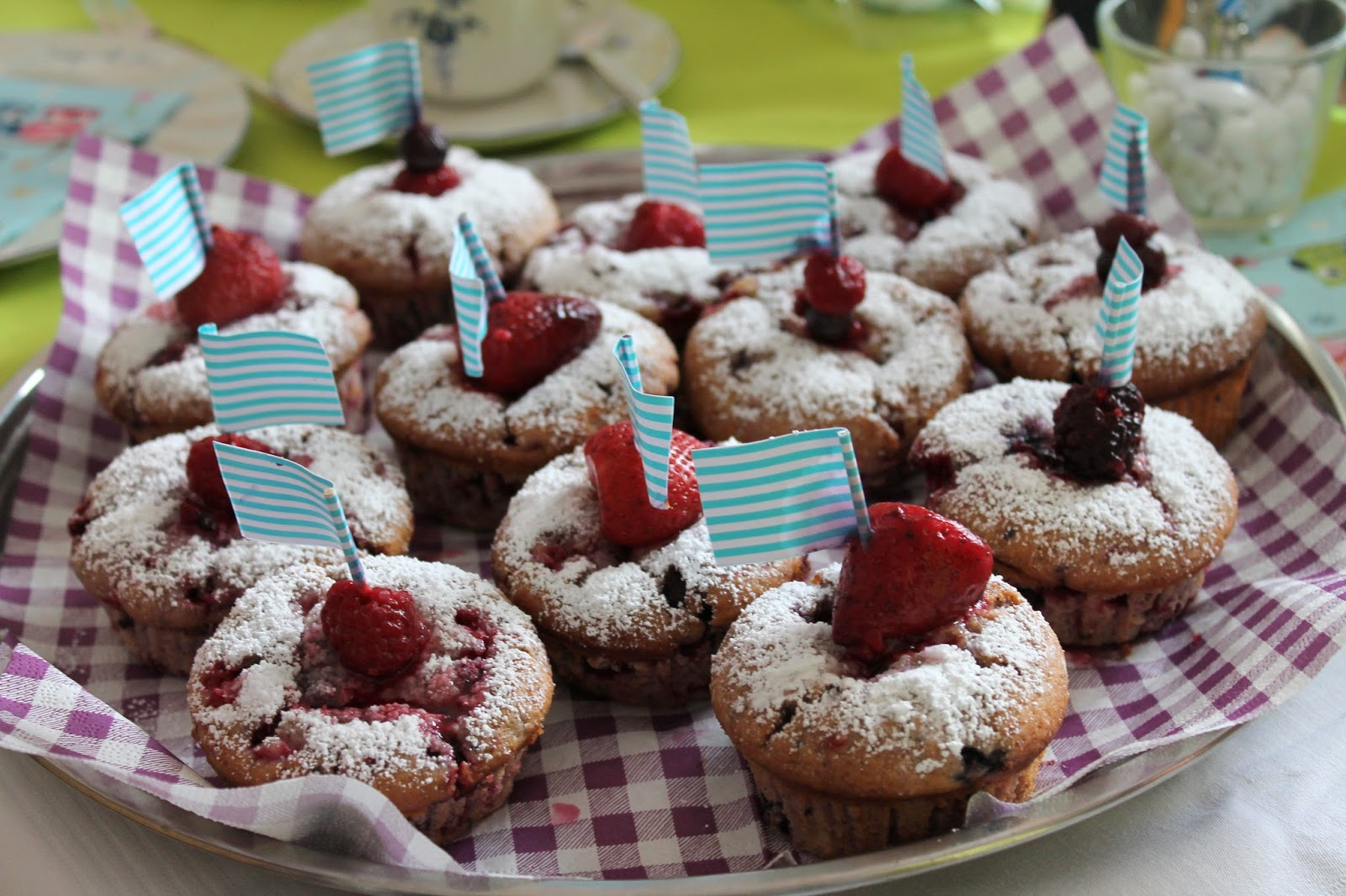 Beerenmuffins Babyparty