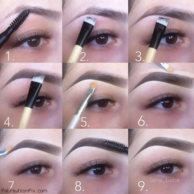 Step by step pictures on how to draw a perfect eyebrow