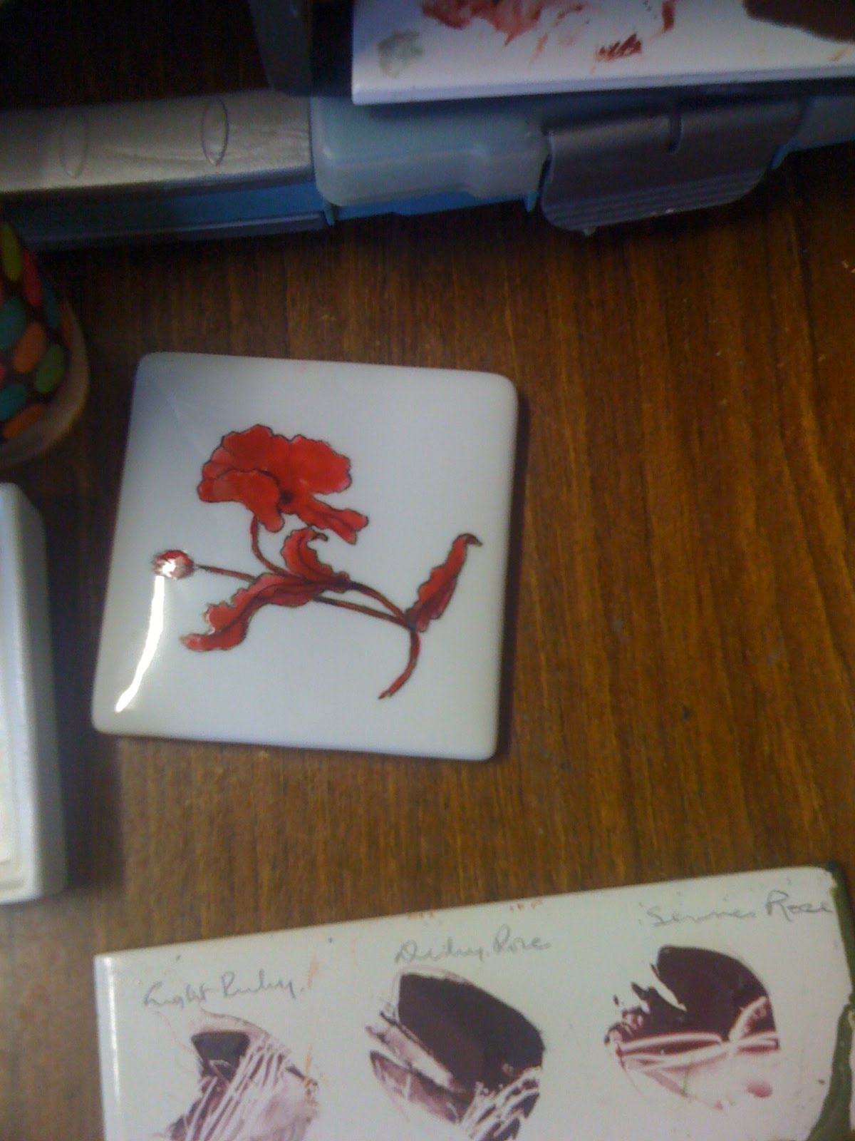 Porcelain and Cards-my favourite things