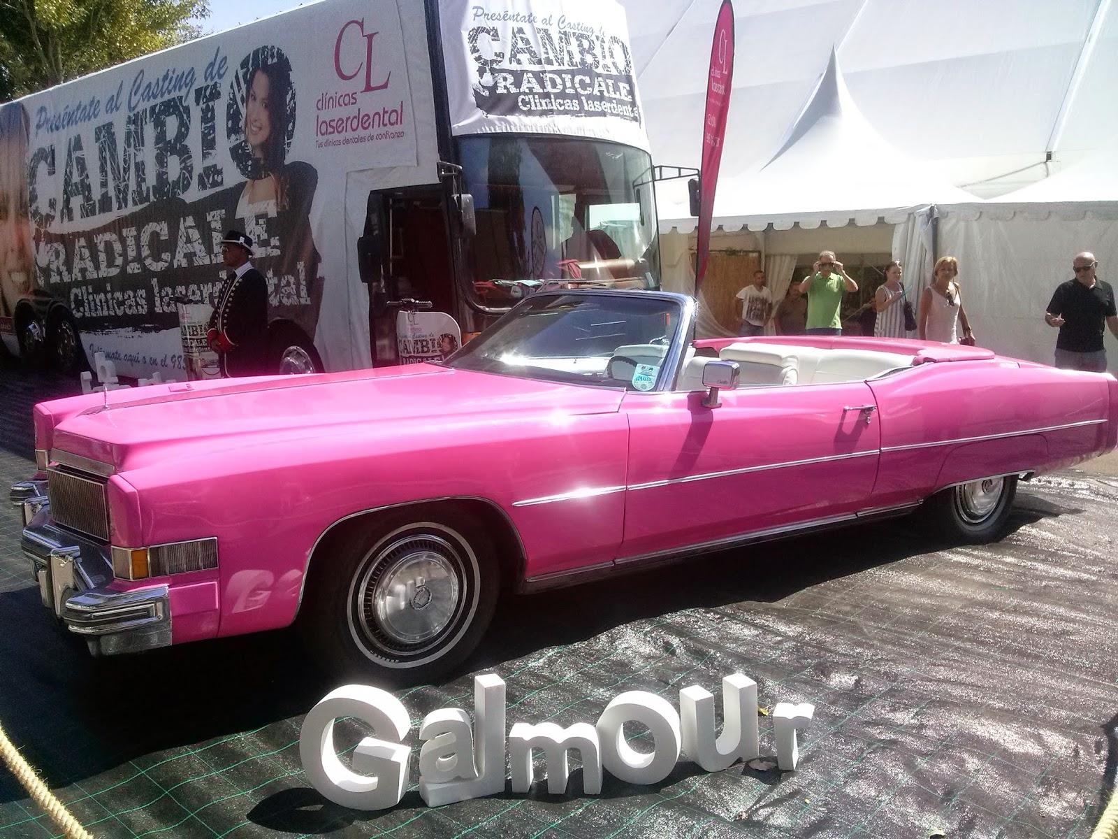 feria muestras gijon coche cadillac rosa pink