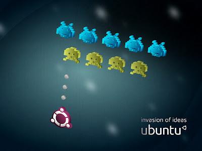 Baixar Ubuntu Invaders wallpapers - formato 4:3