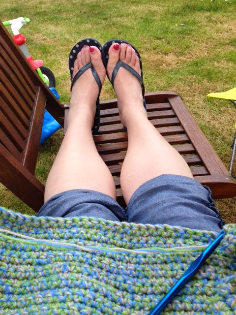 Crochet in the garden...