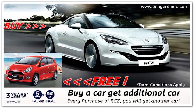 Promo Spesial Peugeot Indonesia - Beli New RCZ Gratis Mobil Daihatsu Ayla