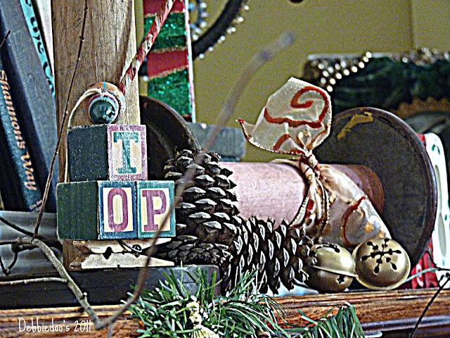 P1120814m Christmas mantel {rustic, whimsy}