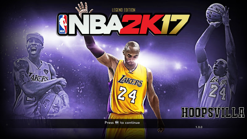 NBA 2k17 Kobe Bryant Legend Edition Title Screen Mod for NBA 2k14