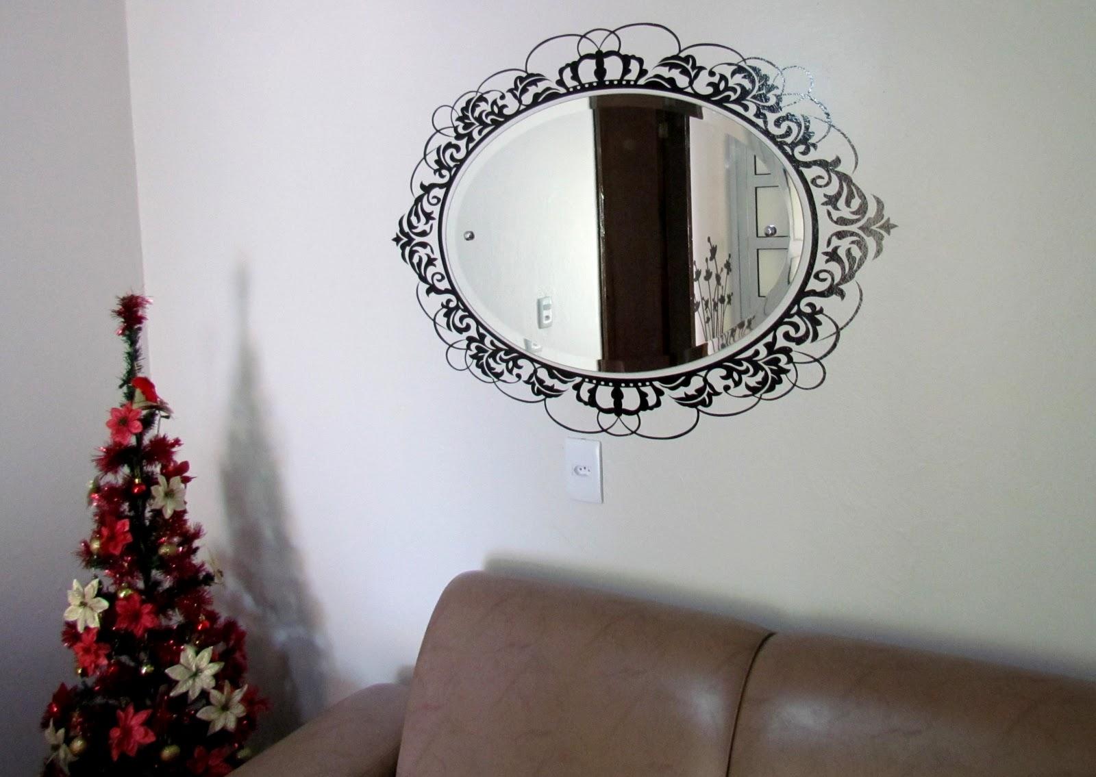 Aparador Tampo De Vidro Branco ~ PomPer Comunicaç u00e3o Visual Adesivo moldura espelho