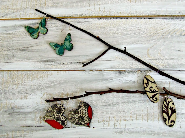 kolczyki decoupage by Eco Manufaktura