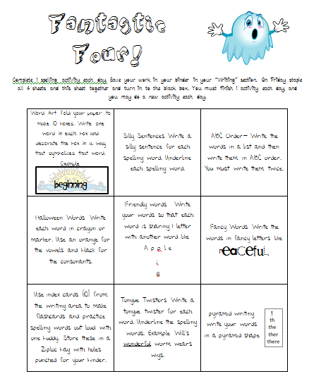 Homework Sheets For Year 4 Spelling - image 6