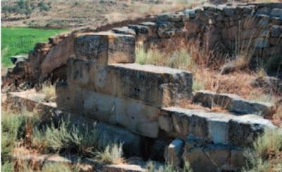 Detalle del muro de la Vispesa de Binéfar