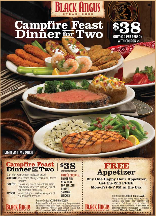 Discount coupons for black angus steakhouse