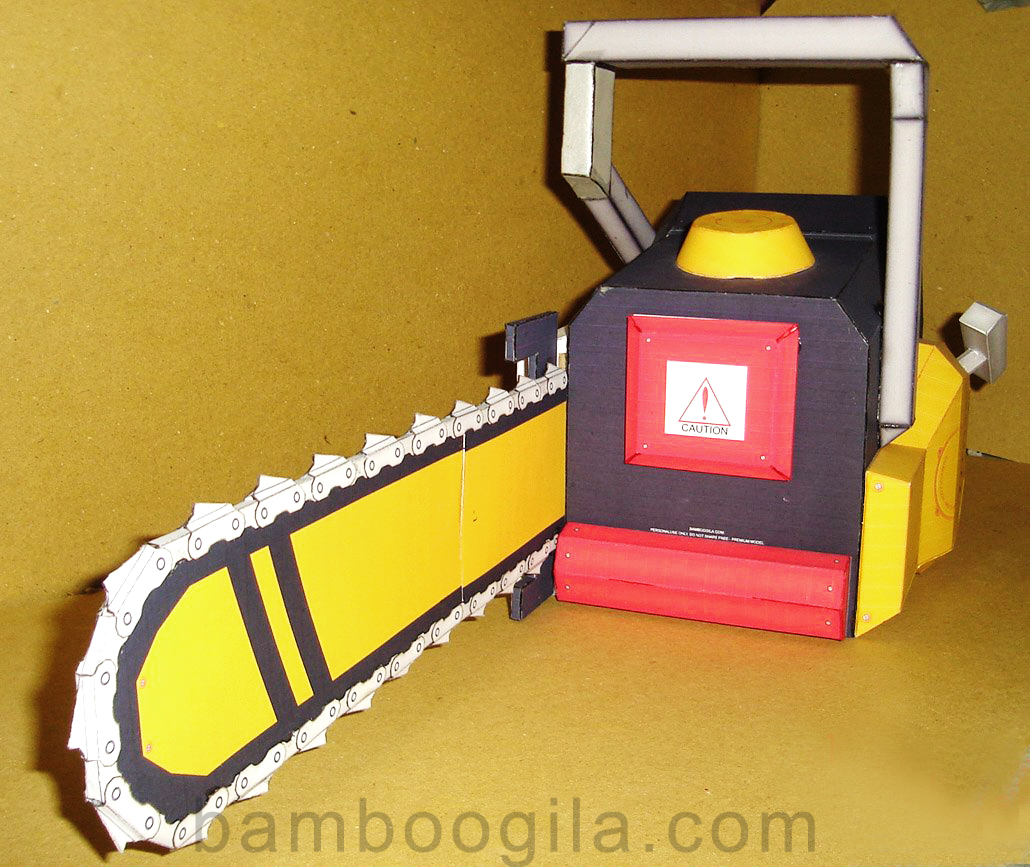 Life-size Mini Chainsaw Papercraft