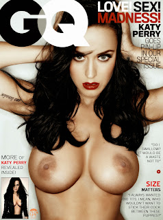 Katy Perry GQ magazine Katy Perry Nude Possing her Boobs Tits in Black Panty Fake