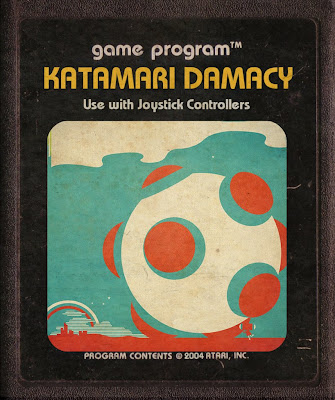 Katamari Damacy Atari retro Art Arte 2600 Cartucho Atari 2600