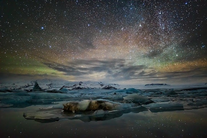 Breathtaking landscapes convey the dazzling beauty of iceland snow