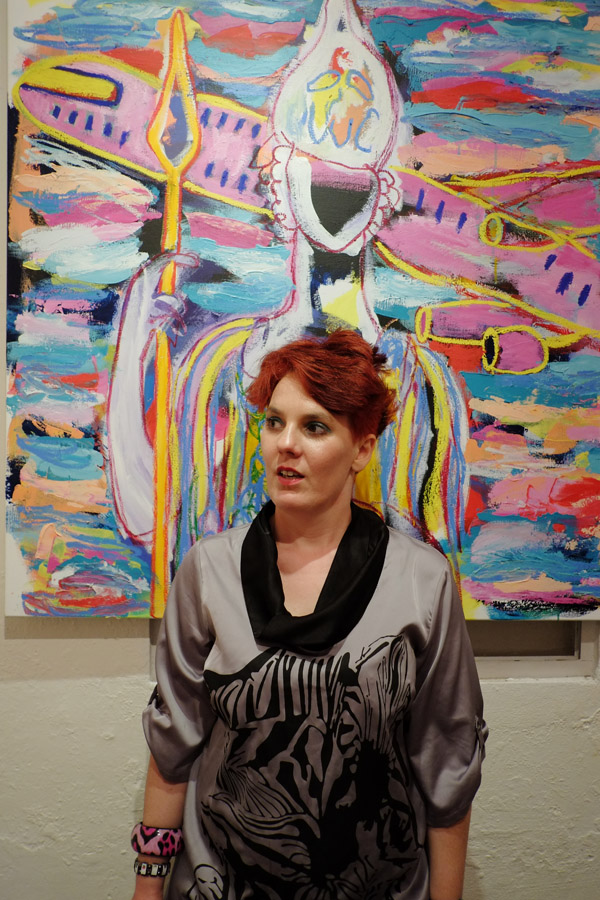 Anna Wheeler artist portrait at Fire Gallery Sydney - Fire Gallery 22 Enmore Road, Newtown