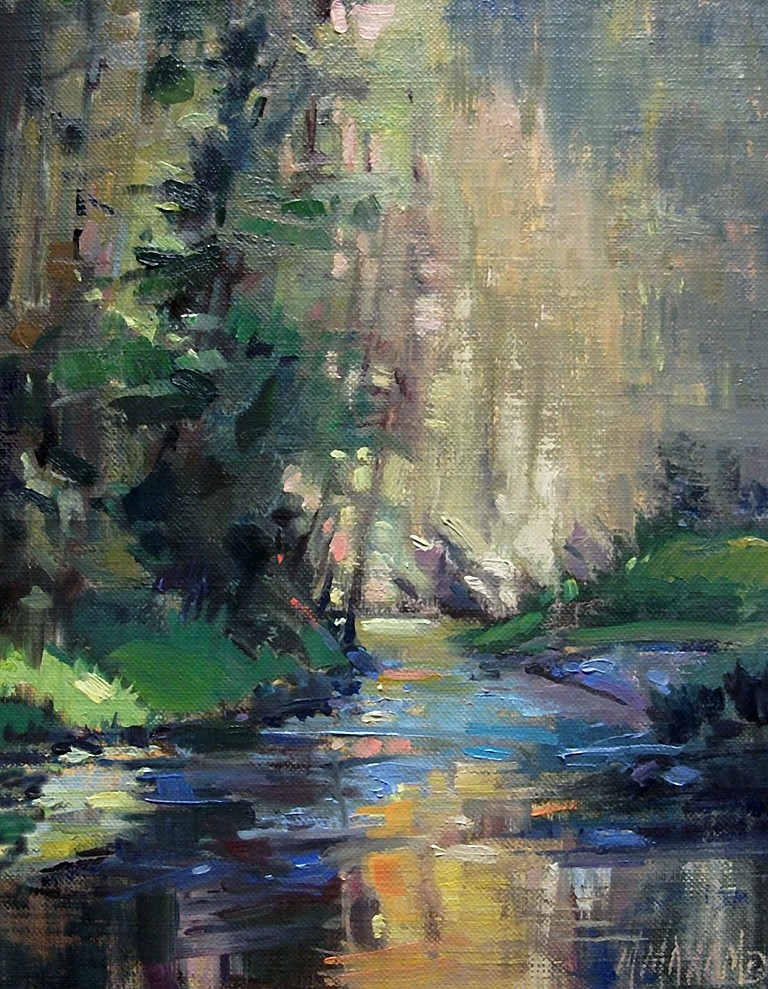Mary maxam paintings st joe river bend for Artwork landscapes
