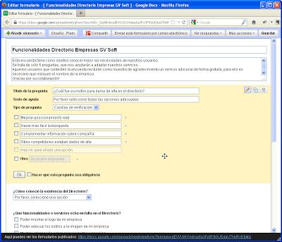 edición formulario encuesta clientes