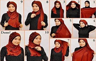 Memakai Jilbab Pashmina