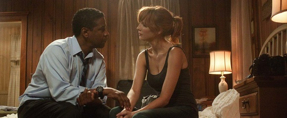 Denzel Washington Kelly Reilly em O VOO (Flight)