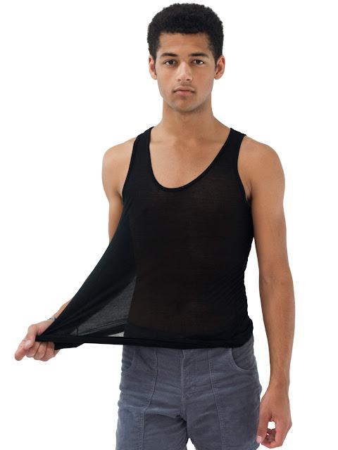 men sheer vest