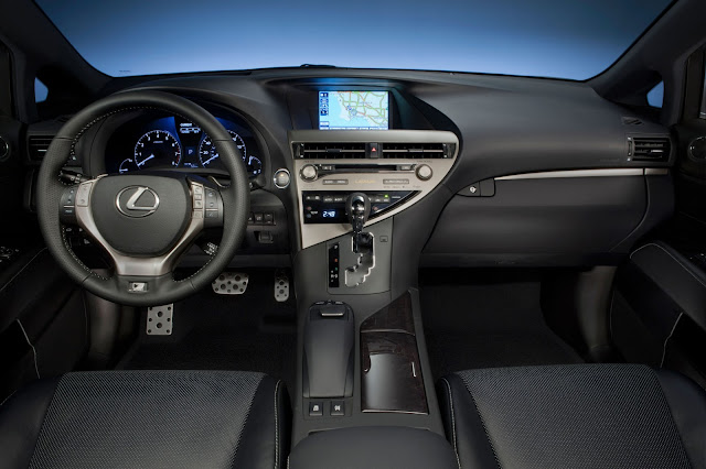 Interior view of 2013 Lexus RX 350 F Sport