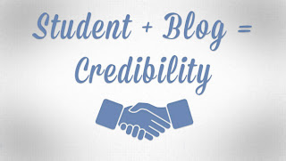 student + blog equals credibility