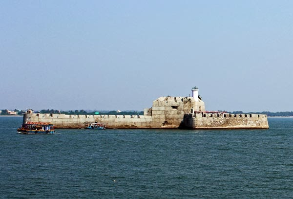 Diu Prison with boats