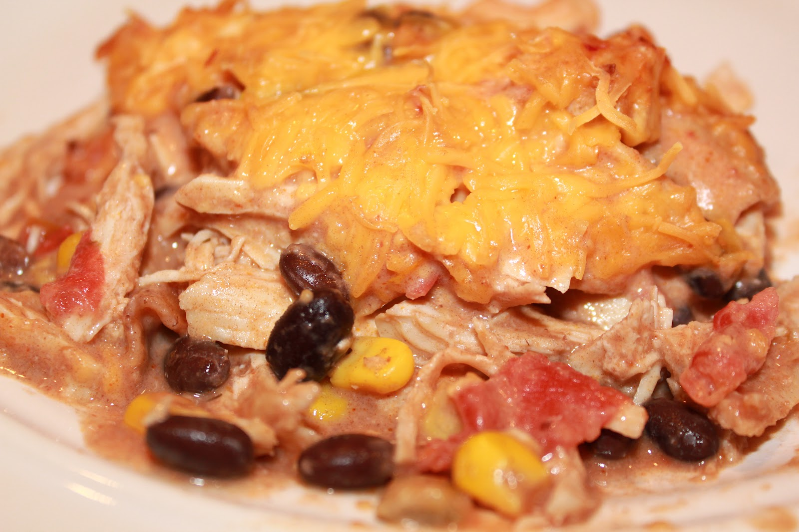 Low Carb Chicken Enchilada Bake ~ Adventures of a Middle Sister