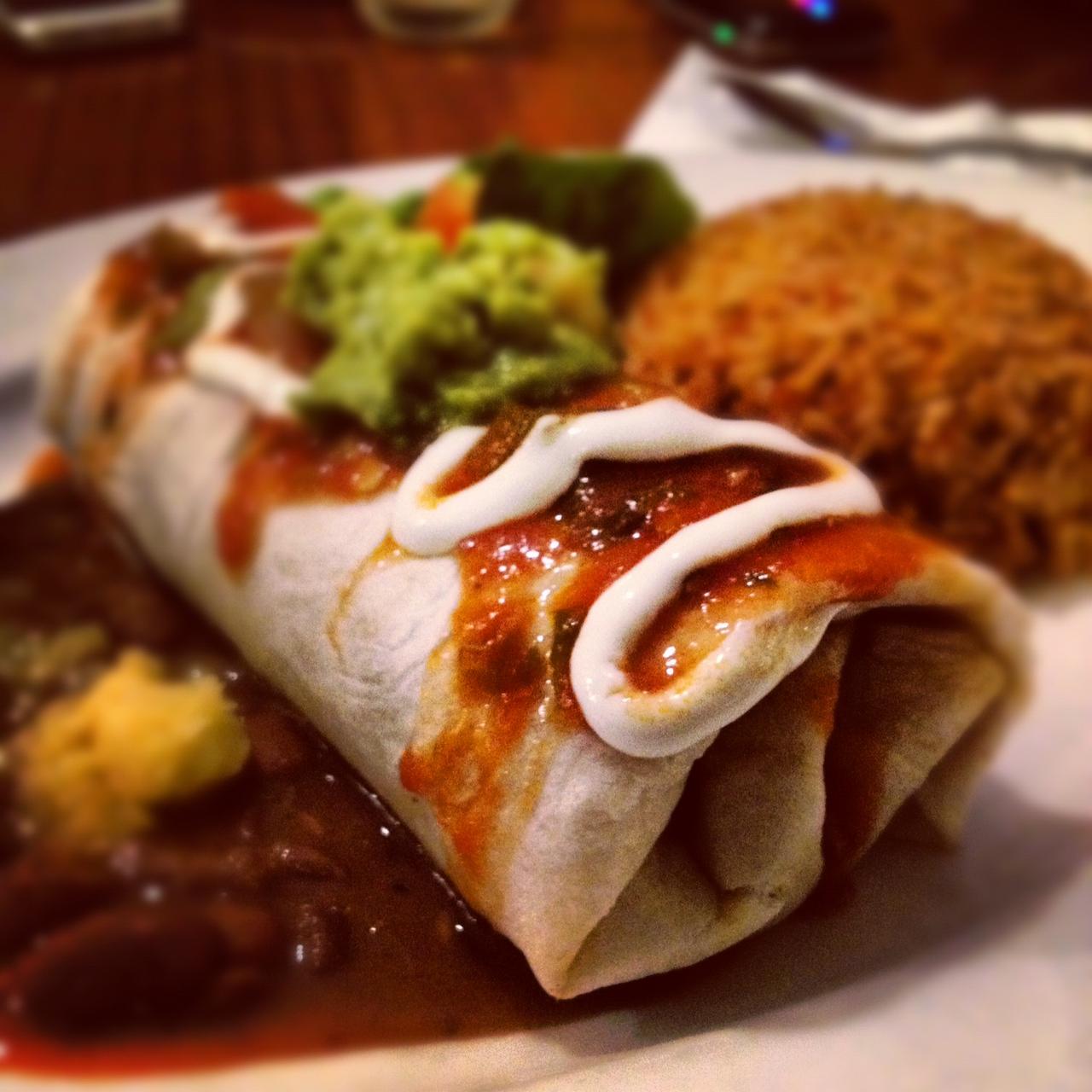 chicken frontera burrito