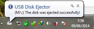 Safe remove USB Disk