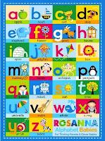 Grosir Selimut Rosanna Soft Panel Blanket Alphabet