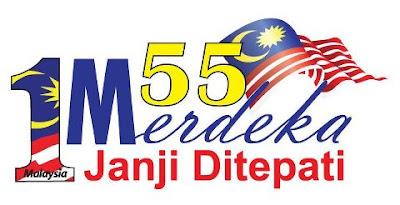 Logo Hari Merdeka ke-55