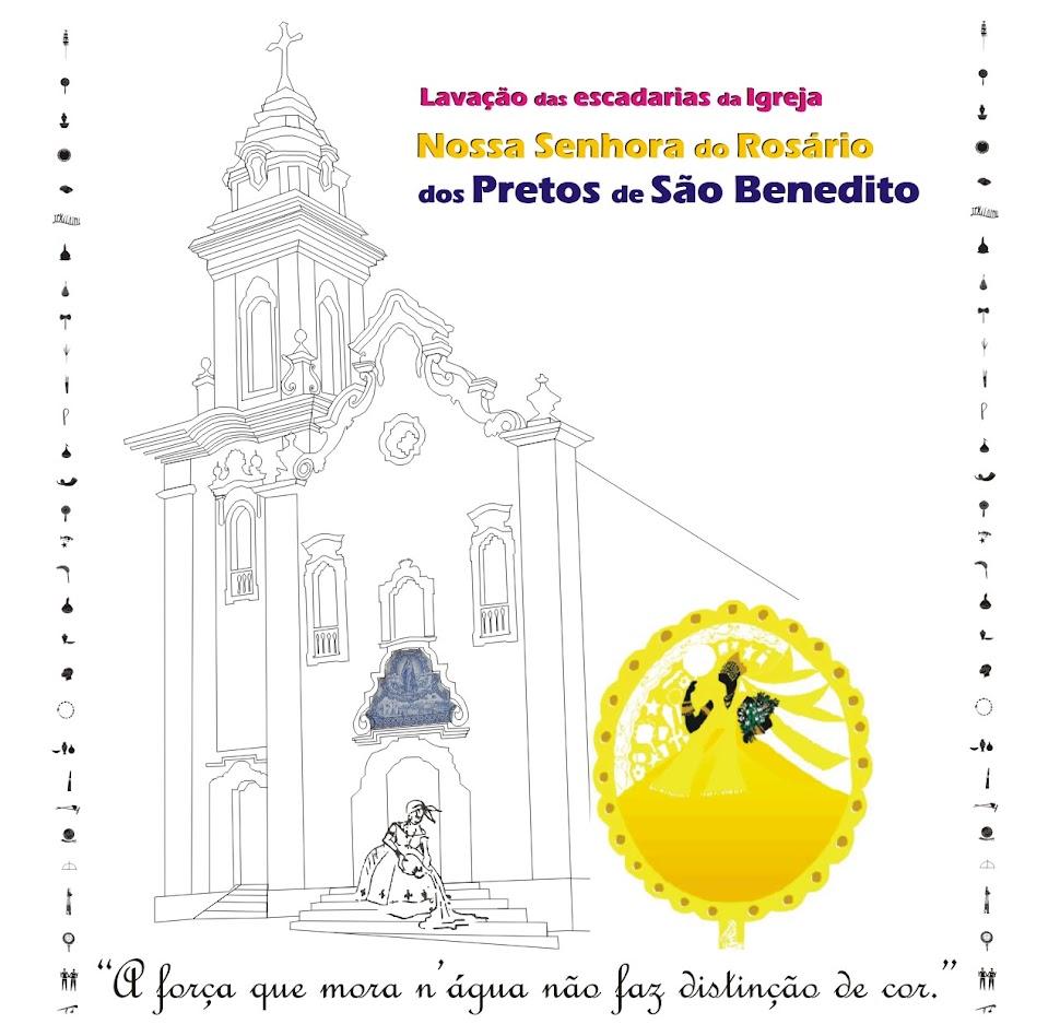 Lavação da antiga Igreja do Rosário dos Homens Pretos de São Benedito