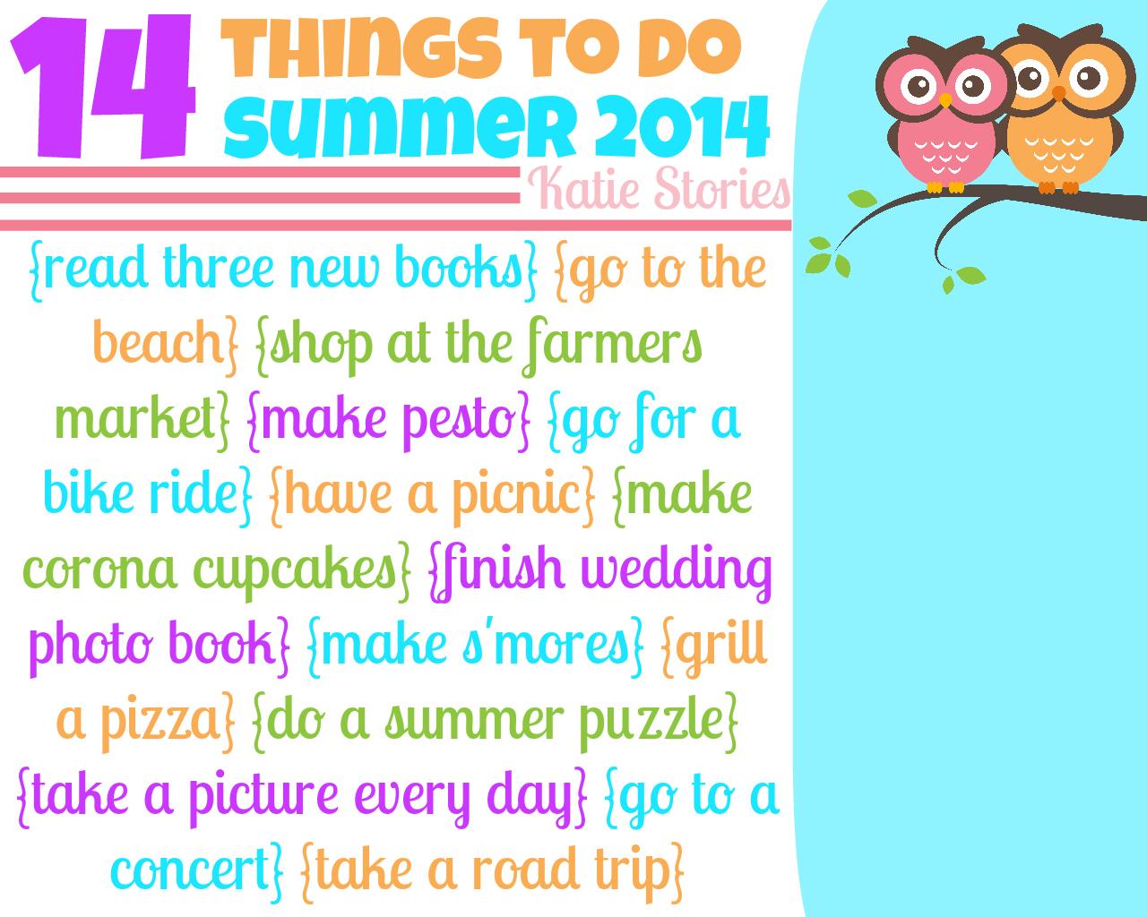 Katie Stories {Scrapbook + Crafting Blog}: Summer List {2014}