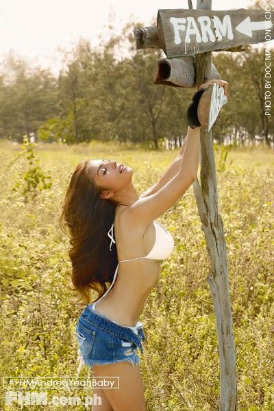 Andrea Torres white bra